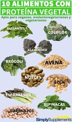 10 Alimentos con proteína vegetal para #veganos y #vegetarianos.