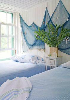 Wanddeko Maritim Blau Weiße Wände Strandhaus Schlafzimmer Dekorieren  Schlafzimmer Dekorieren, Wohn Schlafzimmer, Badezimmer Maritim