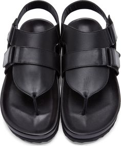 Pierre Hardy Black Leather Sandals