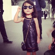Alexander Wang's niece backstage at ss13 NYFW