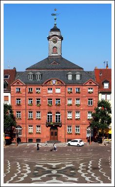 De City Hall of Pirmasens is an independent town in Rhineland-Palatinate_ West Germany