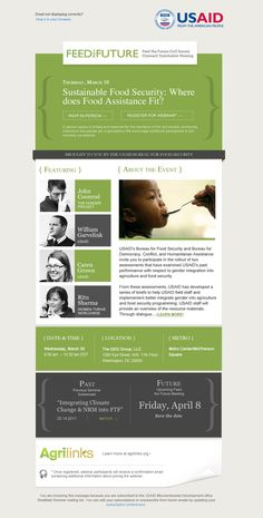 USAID Email Campaigns // Mailchimp Template Designs by Laura Lin, via Behance
