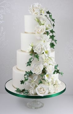 use casablanca lilies instead of roses use ruffled/textured buttercream instead of fondant