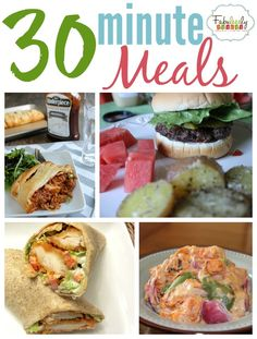 PIN FOR LATER -- Check out this handful of helpful and quick recipes for a busy family.