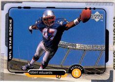1998 UPPER DECK ROBERT EDWARDS NFL STAR ROOKIE