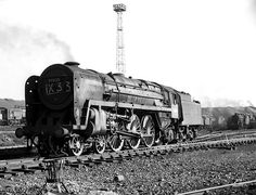 BR Britannia at at Crewe South 21 March In less than 9 months, she would be scrapped after being in service just 15 years. Photo by John Turner. Train Truck, Abandoned Train, Steam Railway, Train Art, British Rail, Train Engines, Steam Engine, Steam Locomotive, Historical Pictures