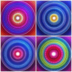 4 mandalas by Elspeth McLean  #mandala #collection #mandalamonday #elspethmclean