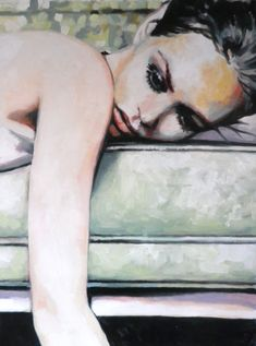 Thomas Saliot - Vaness' 65/95cm Oil on canvas