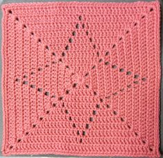 Filet crochet star