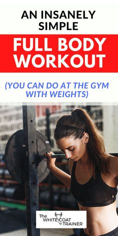 Here is a super simple 30 minute full body strength training program you can do to help you build muscle, burn fat, and gain strength. These program can be done at the gym with weights, or at home with no equipment. Let's get started! Workout Meal Plan, Step Workout, Workout Log, Strength Training Program, Training Programs, Fit Board Workouts, Fun Workouts, Build Muscle At Home, Fitness Tips
