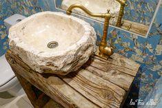9.2 lavabo_traviesas_tren_las_tres_sillas_3 Mexican Home Decor, Stone Sink, Ceramic Sink, Bathroom Toilets, Sink Faucets, Master Bathroom, Interior Decorating, Diy Bedroom Decor, Apartment Ideas