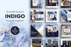 INDIGO Instagram Template Pack - Instagram - 1