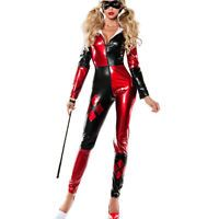 harley quinn costume women adult sexy cosplay bodysuit catsuit fancy dress