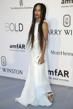 ba9cd61a1a Actress Zoe Kravitz poses for photographers upon arrival for the amfAR  Cinema Against AIDS.