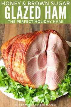 Delicious roasted ham covered in a brown sugar honey glaze with just a hint of warming spices. All the tips you need to pick out a great ham are included. Our family also uses large hams in our meal plans every few months. See how we stretch a $20 ham into a week of meals. #maindish #ham #Easter #Christmas #sundaydinner #mealplanning #easy Pork Recipes, New Recipes, Dinner Recipes, Amazing Recipes, Holiday Recipes, Easy Recipes, Dinner Ideas, Christmas Recipes, Delicious Recipes