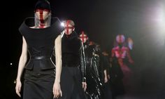 Gareth Pugh's dark and patriotic show did not disappoint, as he showed he is still king of the bold silhouette.