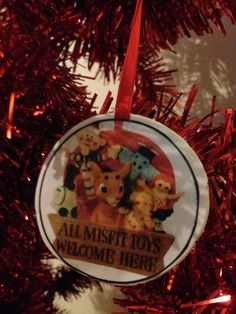 Rudolph's Island of Misfit Toys Ornament by UberDorkDesigns on Etsy