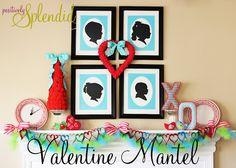 I LOVE this Valentine's mantel from Positively Splendid! #valentines #mantel