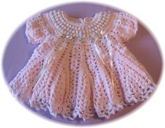 CROCHET PATTERN for Baby Girl Dress Cotton Candy Baby Dress
