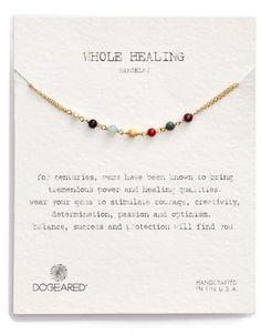 Dogeared 'Whole Healing' Semiprecious Stone Bracelet