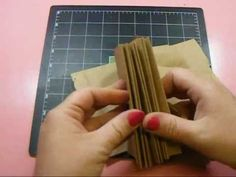 Hello everyone, here is part 2 in the Vertical Paper Bag Mini Album Series. In this video we will create the binding mechanism for our mini album. Binding me. Paper Bag Books, Paper Bag Crafts, Paper Bag Album, Paper Bags, Paper Bag Scrapbook, Mini Scrapbook Albums, Minis, Book Making, Card Making