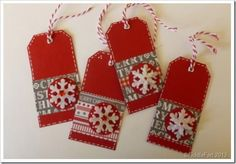 Gift Tags using Wilkinson Christmas Craft Papers