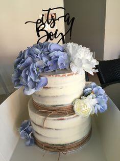 Naked cake.  Hydrangea