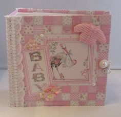 Baby Design, Stamping Up, Decorative Boxes, Scrapbooking Album, Etsy, Home Decor, Pictures, Handmade Photo Album, Small Paintings