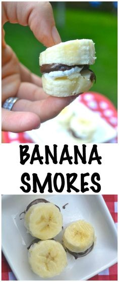 Banana Smores. The Little ones will love these!