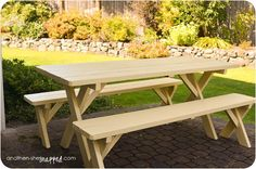 and then, she {snapped}: how to paint an old picnic table