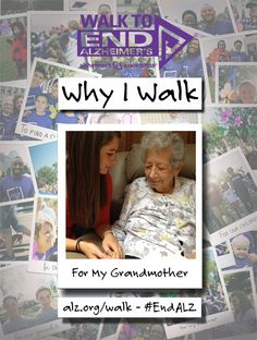 Tessa Walks to #ENDALZ for her grandmother, Theresa Zarbo.  Read Tessa's story at https://alzgrva.wordpress.com/2015/03/31/why-i-walk-tessa-anderson/  You can now register for the 2015 Walks to End #Alzheimers!  Northern Neck – Middle Peninsula; Saturday, September 19th; Fredericksburg; Saturday, September 26th; Richmond Walk to End Alzheimer's; Saturday, November 7th. Register at www.alz.org/walk