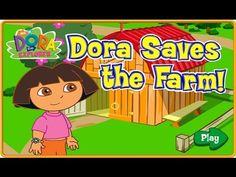 [HD] 도라 더 익스플로러 동물농장#1 Dora the explorer saves the farm ! game nickelode...