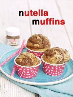 Nutella muffins - no classic Easter recipe with eggs, carrots or bunny . - kochen&backen - Best Ever Muffins Recipes Easter Recipes, Egg Recipes, Cookie Recipes, Dessert Recipes, Muffin Nutella, Nutella Muffins, Nutella Cupcakes, Food Cakes, Kids Meals