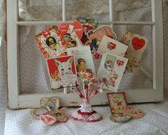 Vintage Valentine Ephemera / Ephemera / Photo by Valentine Treats, Happy Valentines Day, Vintage Valentine Cards, Photo Holders, Romantic Homes, Vintage Images, Christmas Stockings, Gift Wrapping, Crafty
