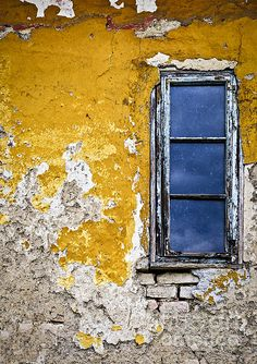 """""""Old Wall in Serbia,"""" by Elena Elisseeva, Fine Art America. Vintage Windows, Old Windows, Windows And Doors, Wall Collage, Wall Art, Old Wall, Foto Instagram, Old Doors, Mellow Yellow"""