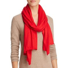 Echo Seasonless Scarf ($58) ❤ liked on Polyvore featuring accessories, scarves, madder red, red scarves, wrap shawl, echo scarves and red shawl