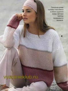 Knit This Cozy Pullover With Sweater Knitting Patterns, Knitting Designs, Knit Patterns, Hand Knitting, Knitwear Fashion, Sweater Fashion, Pullover Mode, Mohair Sweater, Crochet Clothes
