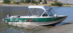 New 2012 Hewescraft 180 Sport Jet Multi-Species Fishing Boat Docked.