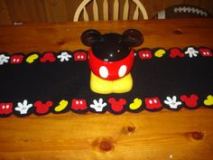 Mickey mouse inspired table runner