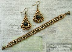 Linda's Crafty Inspirations: Marquesa Earrings: Suede Gold and Seal