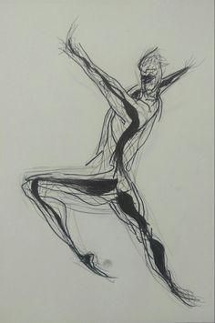 강렬한 움직임을 조금 더 인체의 움직임에 초점을 맞추어 간결하게 표현해보았다.