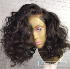 sew in bob with side part