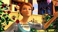 "Barbie Three Musketeers, ""that was exceedingly rude!"""