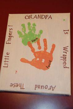 handprint canvas - A Bird and a Bean