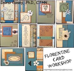 Florentine Card Workshop, ready for our May retreat!