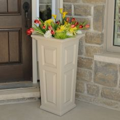 Mayne Nantucket Tall Patio Planter In Clay! Made In The USA! Www.gomayne