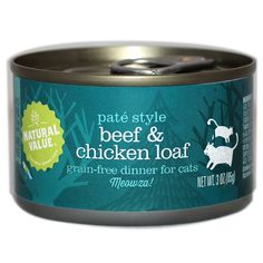 Natural Value Beef and Chicken Non-GMO Cat Food / Case of 24, 3 oz. cans * Read more at the image link. (This is an affiliate link and I receive a commission for the sales)