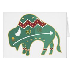 Shop Card Buffalo Image Native American created by Personalize it with photos & text or purchase as is! Native American Animal Symbols, Native Symbols, Native American Patterns, Native American Artwork, Native American Crafts, Native American Design, American Indian Art, Native Art, Indian Symbols