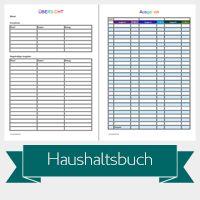 Haushaltsbuch | Miss Konfetti