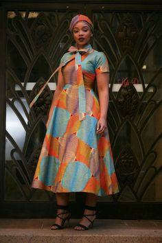 Attractive shweshwe dresses For Women 2019 ShweShwe 1 African Wear Dresses, Latest African Fashion Dresses, African Print Fashion, African Prints, African Wedding Attire, African Attire, Shweshwe Dresses, Culture Clothing, African Traditional Dresses